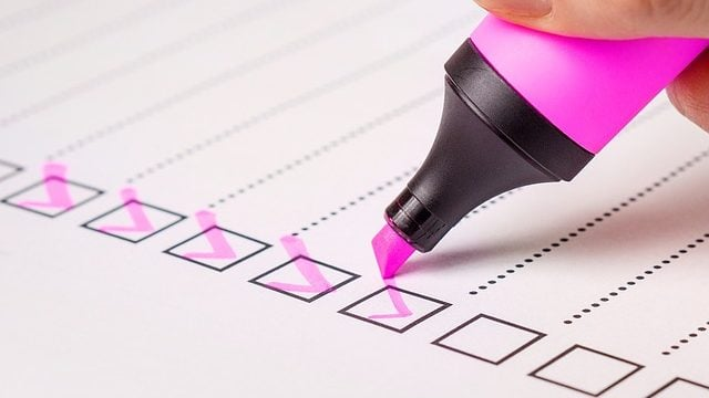 Checklist criterios de inversión